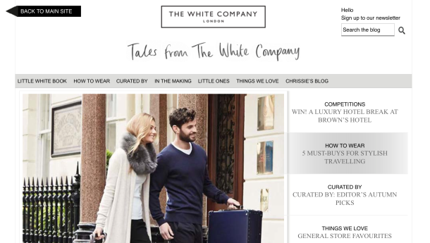 The White Company - features and articles